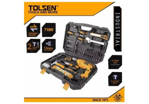 TOLSEN 95pcs Hand Tool Set with Hammer Drill (710W) in Kenya