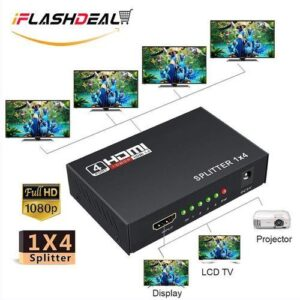 Feel free to make your order forHDMI Splitter HDMI Full HD 1080P 1X4 (4WAY) in Nairobi, Kenya at Amtel Online Merchants. Your on stop online shop for Computer Accessories,  Adapters, Converters, CCTV, TV, Woofers, Bluetooth Speakers and other Electronics In Nairobi, Kenya.