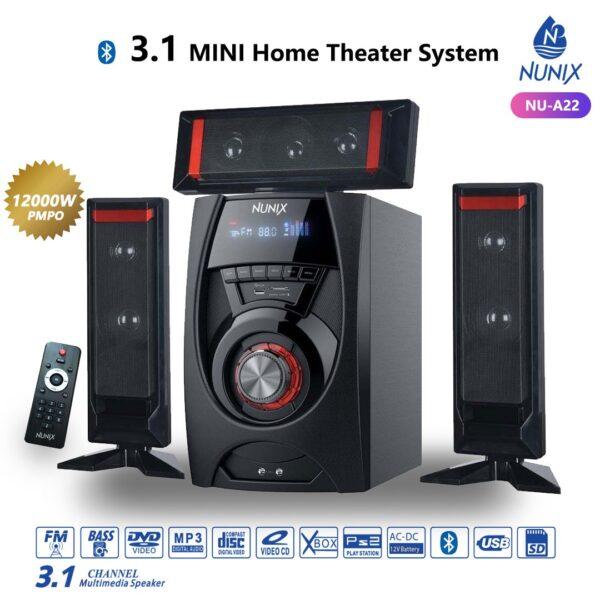 Nunix A22 12000W 3.1Ch MINI Home Theater System